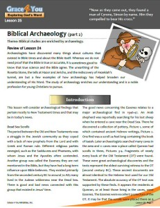 Lesson 25: Biblical Archaeology (Part 2)