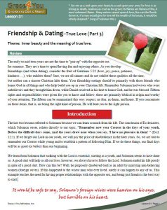 Dating bible study lessons 8